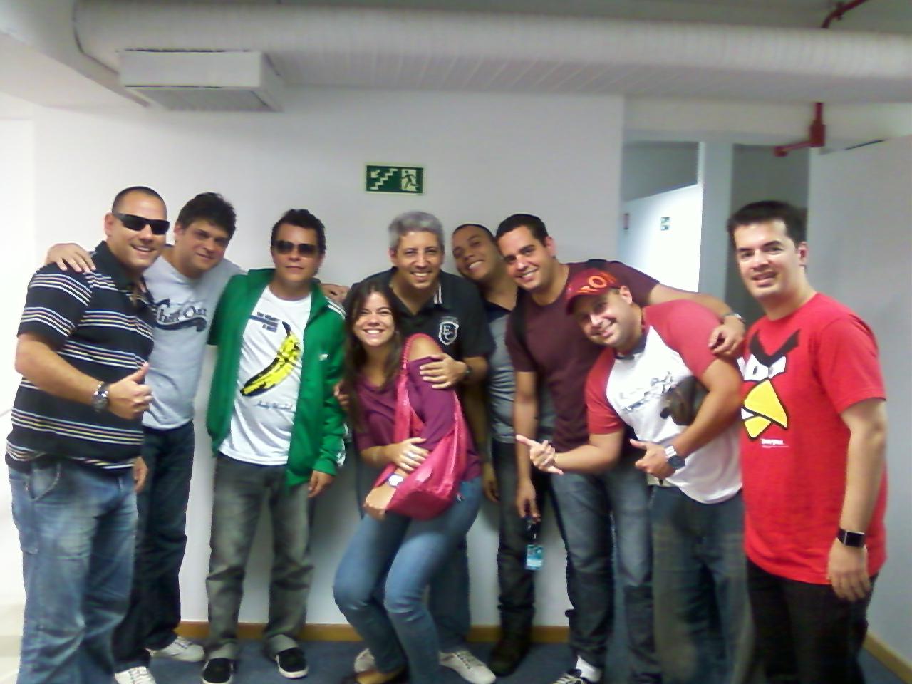 Essa é uma foto da equipe Rock Bola e BGS